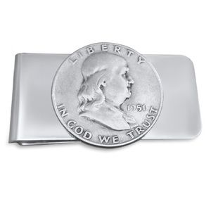 Other - Handmade Authentic Silver Ben Franklin Money Clip.